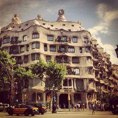 La Pedrera, another funk-tastic Gaudi creation #barcelona #travel