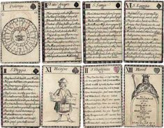 John Lenthall's Fortune-Telling Cards, English 1665