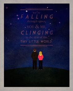 """""""We're falling..."""" ~The ninth Doctor to Rose."""