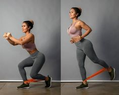 : 6 Moves for Max Booty Gains split squat resistance bands booty workoutsplit squat resistance bands booty workout Forma Fitness, Bora Malhar, Fitness Tips, Fitness Motivation, Fitness Men, Fitness Workouts, Mental Training, Strength Training, Resistance Band Exercises