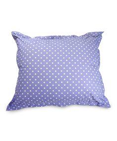 Another great find on #zulily! Lavender Polka Dot Floor Pillow #zulilyfinds