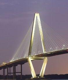 Ravenal Bridge, Charleston, South Carolina, USA Building Bridges, Carolina Usa, Charleston, Opera House, Travel, Viajes, Destinations, Traveling, Trips