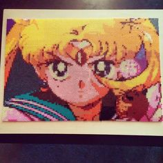 Sailor Moon perler bead piece done for the 'Nostalgic Animation Art show' at Gamma Ray Games in Seattle by priello