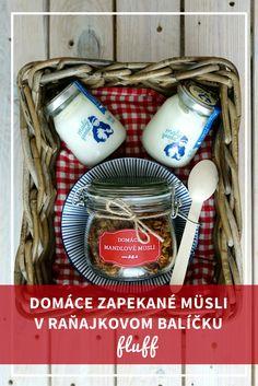 Podarujte domáce zapekané müsli v raňajkovom balíčku