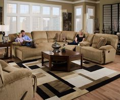 Grandover Five Person Sectional with Reclining Left Side Chaise by Catnapper - Morrison's Furniture Store Inc. - Reclining Sectional Sofa