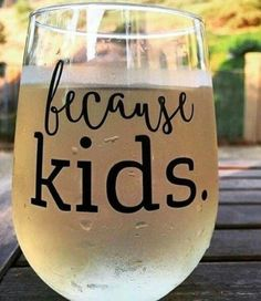 The Original Because Kids™ Wine Glass! Featured by Scary Mommy, HuffPost Parents, Buzz Feed, Pop Sugar Moms A 17 oz Stemless Glass to Hold All the Alcohol. Gifts For Mom, Diy Gifts, Xmas Gifts, Mom Presents, Auntie Gifts, Santa Gifts, Homemade Gifts, Just In Case, Just For You