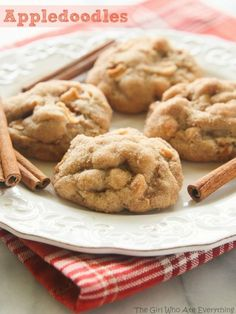 These Appledoodle Cookies are an apple version of the snickerdoodle. With pudding mix in the...