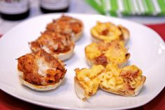 Game Day Appetizers: Lasagna or Bacon Mac and Cheese Cups - Yummy finger food versions of comfort food classics.