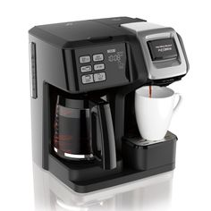 Brew a cup of coffee for yourself or a carafe for the whole family with the FlexBrew Coffee maker from Hamilton Beach. Featuring dual heaters for the carafe and single-serve mug, this versatile brewer accommodates coffee grounds and K-cups. Dual Coffee Maker, Coffee Maker Reviews, Best Coffee Maker, Coffee Uses, Coffee Type, Great Coffee, Drip Coffee, Black Coffee, Hot Coffee