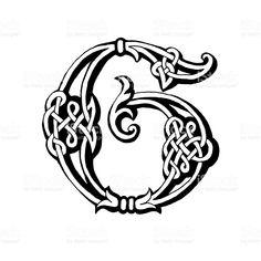 Celtic letter G royalty-free stock vector art