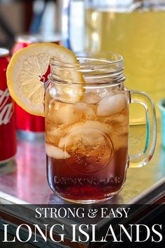 Make a big pitcher of amazing Long Island Iced teas in just minutes. Check out this easy recipe now! Long Island Iced Tea Recipe Pitcher, Big Pitcher, The Best Long Island Iced Tea Recipe, Iced Tea Recipes, Alcohol Drink Recipes, Iced Tea Cocktails, Happy Drink, Island Food, Alcoholic Drinks