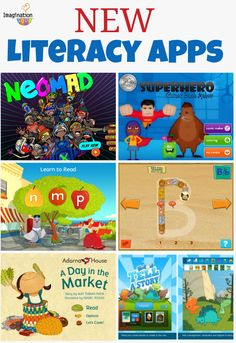 literacy apps for kids that we're loving!Also great in classroom ideas. You can easily make some of these activities and change it to your theme.