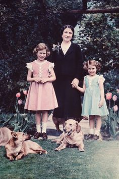 Duchess of York, Princess Elizabeth and Princess Margaret Rose