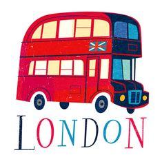 London Bus by Jamey Christoph (designed for Mudpuppy Galison)
