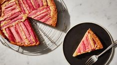 Rhubarb Custard Cake Recipe | Bon Appetit
