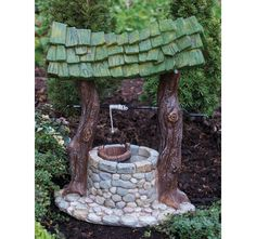 Fairy Wishing Well - Fairy Garden - Miniature Wishing Well - Fairy Garden decor - Fairy House - Fairy accessories - Fairy Garden Supplies Fairy Garden Houses, Gnome Garden, Fairy Gardening, Garden Kids, Fairies Garden, Fairy Village, Fairy Furniture, Miniature Furniture, Furniture Design