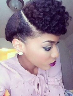 Natural hair updo; Brianna Instagram: @ FiercelyNatural