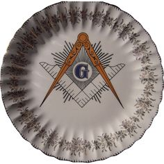Vintage Decorative Masonic Plate