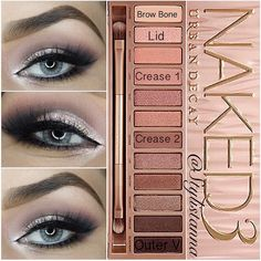 """""""Hi beautifuls  here is the last pictorial I made using  @urbandecaycosmetics naked3 .... ✨#NAKED3✨  On natural eyes. By: @urbandecaycosmetics…"""""""