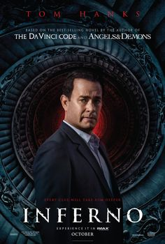 INFERNO (2016): When Robert Langdon wakes up in an Italian hospital with amnesia, he teams up with Dr. Sienna Brooks, and together they must race across Europe against the clock to foil a deadly global plot.