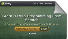 3 cursos gratuitos para aprender HTML5 de Udemy