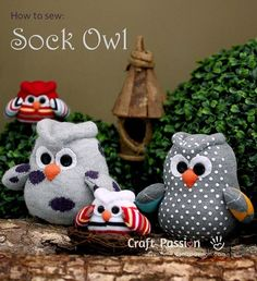 Tutorial: Owl sock softie