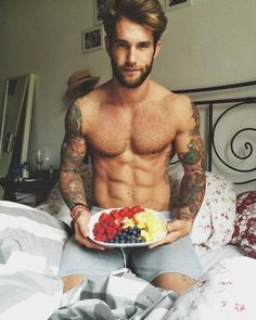 Andre Hamann. I love it when he brings me breakfast bed. Such a sweetie, remembering how much I love fruit :)