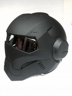 Masei 610 Matt Black Atomic-Man Motorcycle DOT Harley Arai Helmet