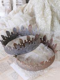 Stor Krona madonna madonnakrona antikfärgad shabby chic lantlig stil