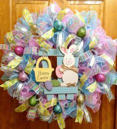 Check out this item in my Etsy shop https://www.etsy.com/listing/502341372/easter-deco-mesh-ruffle-wreath-bluepink