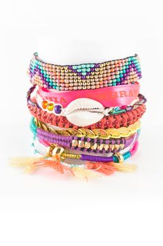 """Hipanema bracelts are perfect for my summer, I don't like to have real """"friendship bracelets"""" as you can't take them off easily..."""