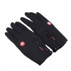 Buy Touch Screen Windproof Warm Gloves Outdoor Cycling Skiing Hiking Unisex Black for Wholesale - 9$