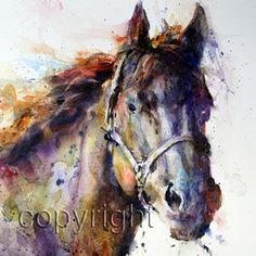 HORSE Watercolor Print By Dean Crouser por DeanCrouserArt en Etsy