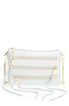 Love that the detachable chain shoulder strap offers a versatile styling option for this modern Rebecca Minkoff clutch.