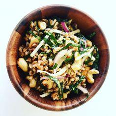 Farro, Kale and Kohlrabi Salad with Dijon-Garlic Vinaigrette