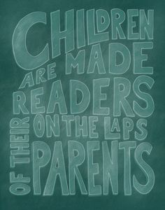 Children are made readers on the laps of their parents    A digital print great for a nursery or baby shower gift. Available in several sizes,