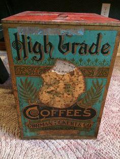 Gorman Eckert & Co High Grade Coffee Bin