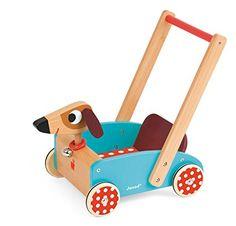 Janod 05995 - Lauflernwagen Crazy Doggy, mit Glöckchen