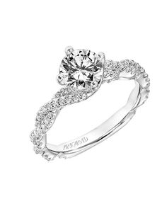 Art Carved engagement ring