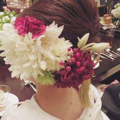 #結婚式 #和装 #着物 #白無垢 #ヘッドドレス #髪飾り #造花 #アーティシャルフラワー #flower #japanese #wedding #VSCOcam