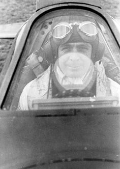 """F/L Kenneth McL """"Ken"""" Gillies of No 66 Squadron RAF is seated in the cockpit of Spitfire Mk I LZ-B at RAF Gravesend in 1940. Flying the aircraft on 4 October, the 27-year-old A Flight leader was sent off with 2 wingmen to intercept a He 111 in cloud over the Hastings-Dungeness area, but failed to return. His body was washed up on the Suffolk coast at Covehithe, south of Lowestoft, 17 days later. He had claimed 2 and 7 shared destroyed, 3 probables and 4 damaged."""