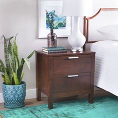 Shop for Malaga 2-drawer Wenge Nightstand. Get free shipping at Overstock.com - Your Online Furniture Outlet Store! Get 5% in rewards with Club O!