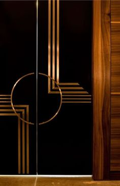 If you're anything like me, you LOVE the Art Deco period. Sleek, sexy lines, classy styling and expensive taste! But there is more to Art Deco than the Great Gatsby! Get the basics of the Art Deco period nailed in less than ten mins in this post. Home Design, Door Design Interior, Main Door Design, Interior Styling, Bedroom Door Design, Interior Doors, Design Design, Art Nouveau Furniture, Furniture Decor