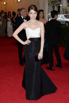 Anna Kendrick appears at the Metropolitan Museum of Art's 2014 Costume Institute Benefit gala, celebrating 'Charles James: Beyond Fashion,' in New York on May 5, 2014.