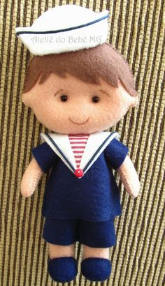 Ateliê do Bebê MG: Guirlanda Menino Marinheiro ( Guilherme )...again amazed at the workmanship on this item...he is truly wonderful...