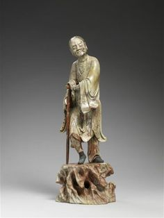 One of the Eight Immortals. 19th century, Qing dynasty (1644-1912). Soapstone Sculpture. China.