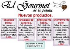 Nuevos productos disponibles desde este mes de octubre en el Gourmet de la patata.