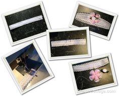 Haarbandje maken met elastisch band | Werkbeschrijvingen | Brocante Roosjes