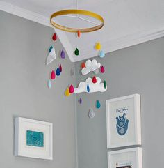 A Fun, Adorable Batch of DIY Baby Mobiles. Rainbow rain drops