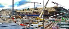 "The new ""Forum des Halles"" (La Canopée) under construction. Magnificent architectural and structural work!"